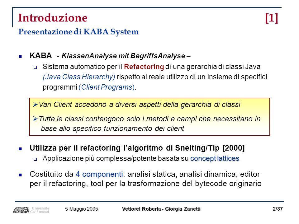 Introduzione [1] Presentazione di KABA System